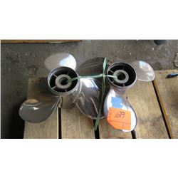 "Qty 2 Stainless Steel Power Tech Propellers for 200-300HP Engine, 16"" Diameter"