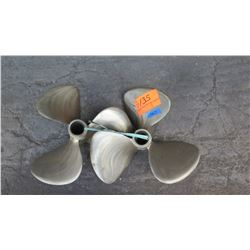 "Qty 2 SMTestnron Brass Propellers for 1.674"" Shaft, 18"" Diameter"