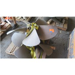 "Qty 2 Bronze Propellers for 3.470"" Shaft, 50"" Diameter"