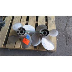"Qty 2 Stainless Steel Power Tech Propellers for 250-350HP Engine, 17.25"" Diameter"