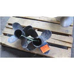 "Qty 2 Stainless Steel Yamaha Propellers - Saltwater Series II for 225-325HP Engine, 16"" Diameter"
