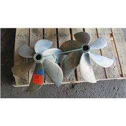"Qty 2 Bronze  ACME Propellers for 1.729"" Shaft, 20"" Diameter"