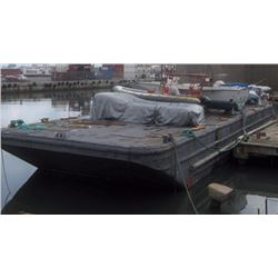 Floating Black Platform Work Barge Dock 109' x 31' -