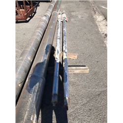 "Pair of Stainless Steel Shafts - Length: 15 ft  Diameter 3.375"" (From Midfoil Vessel)"