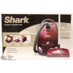 SHARK LEGACY CANISTER VACUUM W/ POWER HEAD & BAG