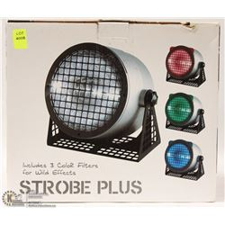STROBE PLUS LIGHT WITH THREE COLOUR FILTERS