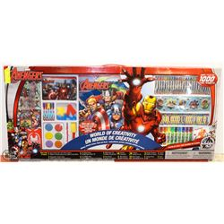 NEW MARVEL AVENGER GIANT ART PAD & STICKERS