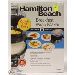 NEW HAMILTON BEACH BREAKFAST WRAP MAKER