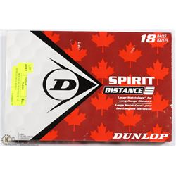 NEW BOX OF SIX SLEEVES OF  DUNLOP GOLF BALLS