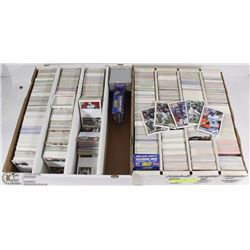 2 BOXES WITH OVER 5,000 FOOTBALL CARDS