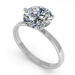 2 CTW Certified VS/SI Diamond Engagement Ring 18K White Gold - REF-936K2R - 32244