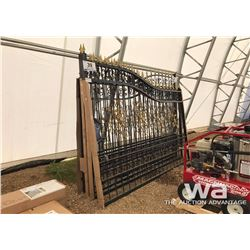 20 FT. HEAVY DUTY BI-PARTING WROUGHT IRON