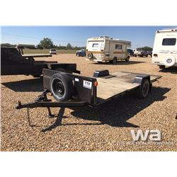 6 X 14 FT. S/A FLATDECK TRAILER