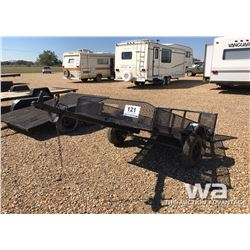 4 X 8 FT. S/A FLATDECK TRAILER