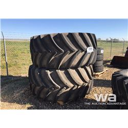 (2) GOODYEAR 900/60R32 COMBINE TIRES