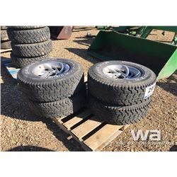 (4) ROUGHRIDER LT265/75R16 ON FORD RIMS