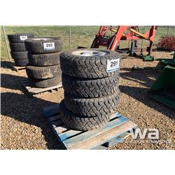 (4) KELLY LT245/75R17 TIRES ON FORD RIMS