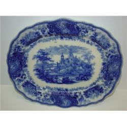 MIDDLEPORT POTTERY FLOW BLUE PLATTER