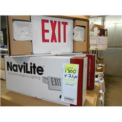 NEW NAVILITE EXIT / EMERGENCY LIGHT UNIT