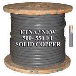 NEW   560  PLUS FT / COIL OF SOLID COPPER