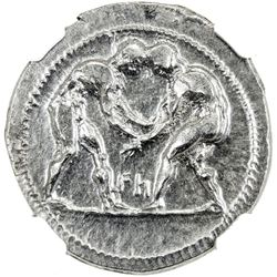 ASPENDOS: AR stater (10.91g), ND (ca. 380-325 BC). NGC EF