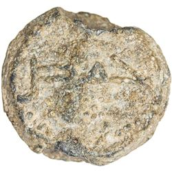 UMAYYAD: lead seal (12.35g), with the city name Hims on one side, VF