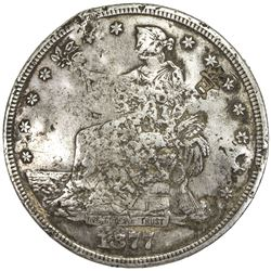 CHINESE CHOPMARKS: UNITED STATES: AR trade dollar, 1874-x. VF
