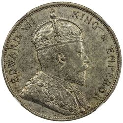 HONG KONG: Edward VII, 1901-1910, AR 50 cents, 1905, KM-15, NGC graded MS61