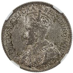 CYPRUS: George V, 1910-1935, AR 9 piastres, 1913. NGC MS63