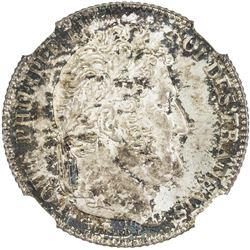 FRANCE: Louis Philippe, 1830-1848, AR franc, 1847-A. NGC MS65