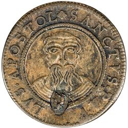MUNSTER-Cathedral Chapter: AE 3 pfennig (2.15g), 1608. VF