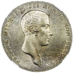 PRUSSIA: AR thaler, 1814-A. NGC MS63
