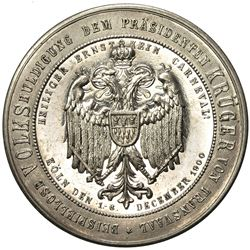 GERMANY: silvered medal, 1900. UNC