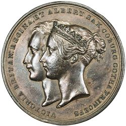 GREAT BRITAIN: Victoria, 1837-1901, AE medal (97.86g), 1842. EF