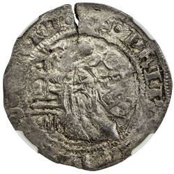 RHODES: Philibert of Naillac, 1396-1421, AR gigliato. NGC F15