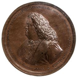 RUSSIAN EMPIRE: Peter I, the Great, 1682-1725, AE medal, [1698]. NGC MS64