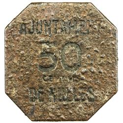 NULLES: 50 centimos (1.62g), ND (1937). VF