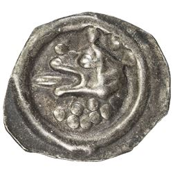 SWEDEN: Valdemar, 1250-1275, AR bracteat (0.14g), ND. EF