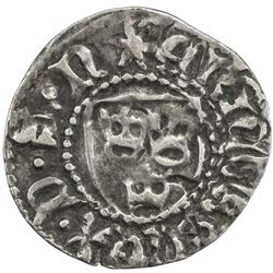 SWEDEN: Erik of Pommern, 1396-1439, AR ortug (1.08g), ND. VF