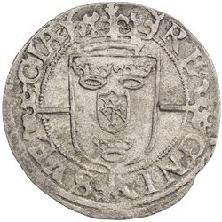 SWEDEN: Karl IX, as regent, 1598-1604, AR ore (2.87g), 1601. AU