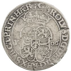 SWEDEN: Karl IX, as king, 1604-1611, AR mark (4.64g), 1606. VF