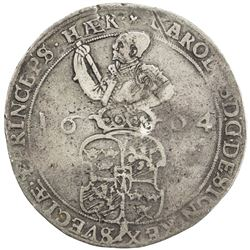 SWEDEN: Karl IX, as king, 1604-1611, AR 4 mark, 1604. F