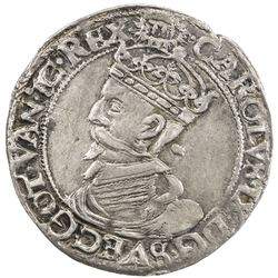SWEDEN: Karl IX, as king, 1604-1611, AR 4 ore (2.09g), 1607. EF