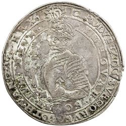 SWEDEN: Karl IX, as king, 1604-1611, AR 4 mark, 1610. F-VF