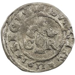 SWEDEN: Karl IX, as king, 1604-1611, AR ore, 1611. VF-EF