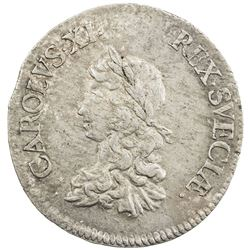 SWEDEN: Karl XI, 1660-1697, AR 2 mark, 1669. VF-EF