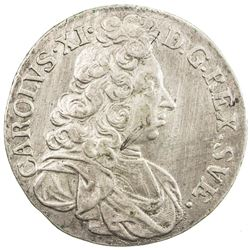 SWEDEN: Karl XI, 1660-1697, AR 2 mark, 1694. EF-AU