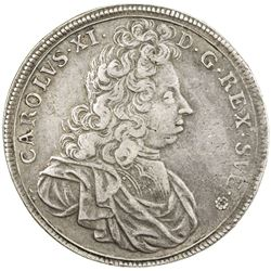 SWEDEN: Karl XI, 1660-1697, AR 8 mark, 1693. VF