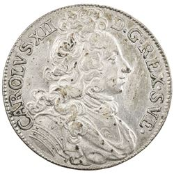 SWEDEN: Karl XII, 1697-1718, AR 2 mark (10.53g), 1697. VF