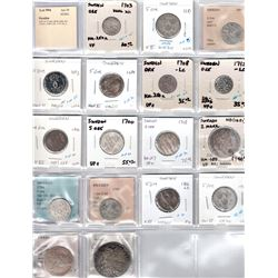 SWEDEN: LOT of 17 early silver coins